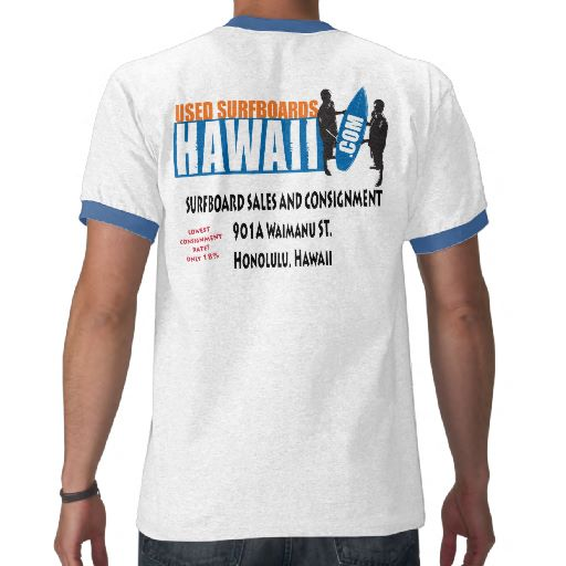Used Surfboards Hawaii Shirts