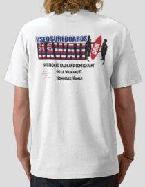 Used Surfboards Hawaii Flag Logo Tee Shirt