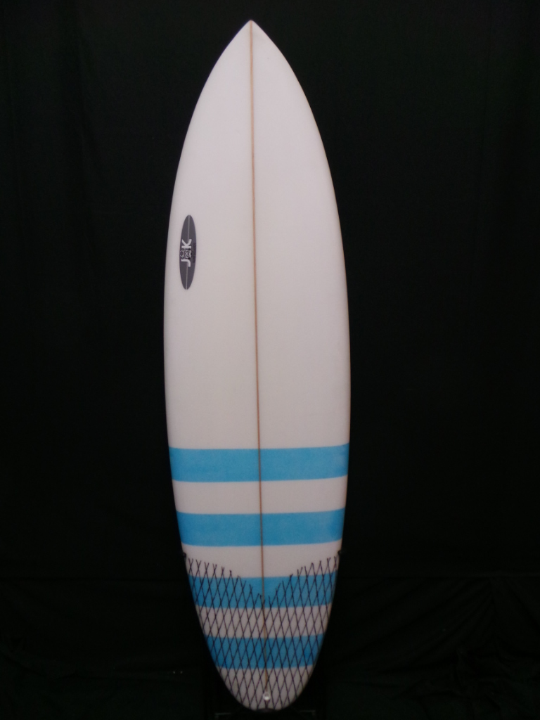 6ft 7in Jk Wafer Round Tail Five Fin Used Surfboards Hawaii