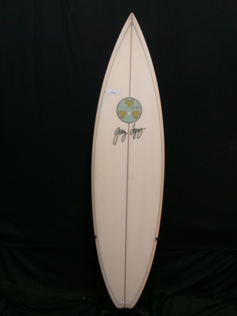 6ft 4in Gerry Lopez Squash Tail Surfboard Ref 17999 Used