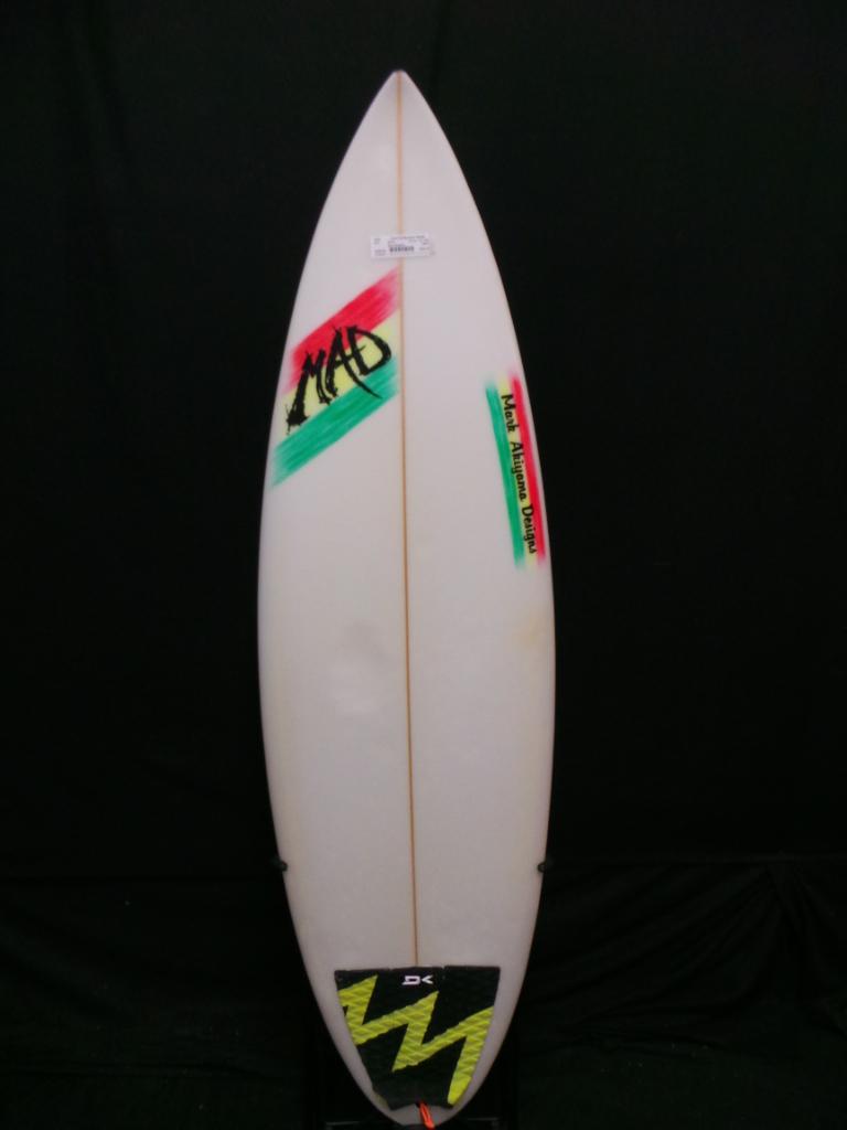 5ft 8in Mark Akiyama Pin Tail Ref 19509 Used Surfboards Hawaii